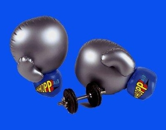 FUN GIANT 24'H Inflatable Boxing Gloves. FREE SAME DAY SHIPPING Perfect for Birthdays, Gifts, Parties, Indoor & Outdoor Fun GREAT REVIEWS