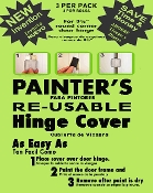 SAVE 80% ON LABOR COST ! Great reviews! PAINTERS ORIGINAL RE-USABLE Masking Magnetic Door Hinge Cover. NO MORE Hinge Taping, Re-Taping, Door Removal, Damage, Injuries, Chemicals! Apply in 30 seconds! FREE SAME DAY SHIPPING!